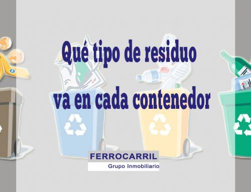 ¿Sabes qué tipo de residuo va en cada contenedor?