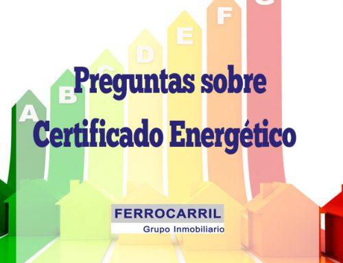 Certificado energético: Preguntas habituales