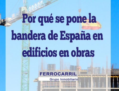 ¿Por qué se pone la bandera de España encima de un edificio en construcción?